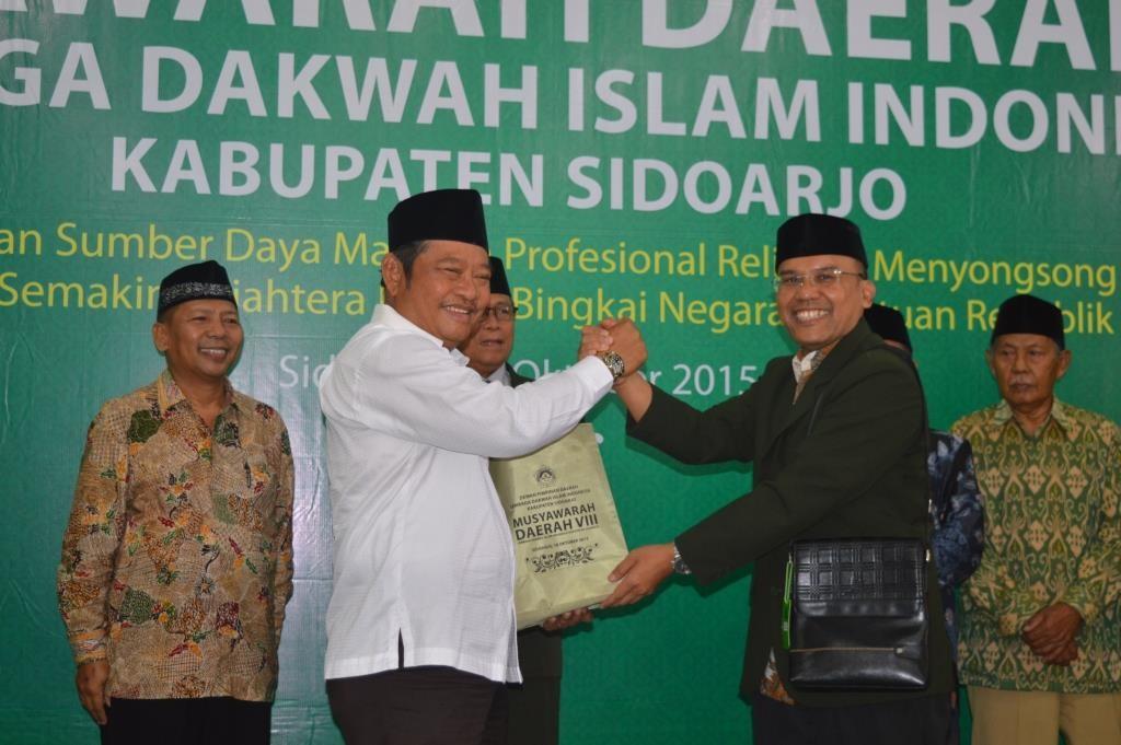 abah saiful bersama Roni Romandhawira, ketua DPD LDII Sidoarjo