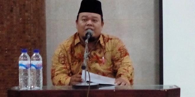 Wakil ketua DPD LDII Kota Surabaya H. Imam Pujiarto, S.Sos, M.Si saat membuka konsolidasi PC dan PAC LDII Kota Surabaya.