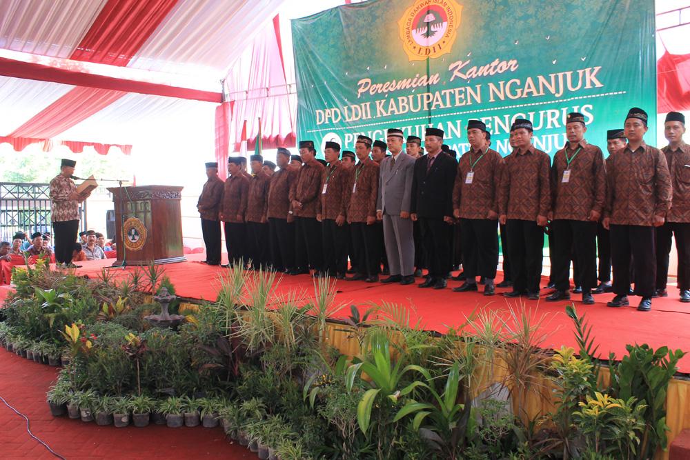 Pengukuhan pengurus DPD LDII Kabupaten Nganjuk masa bhakti 2015-2020