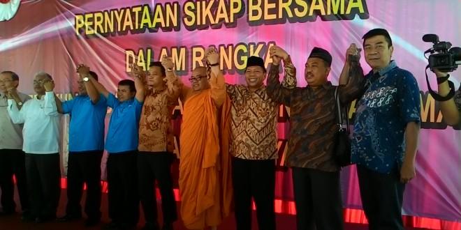 Seruan bersama antar umat beragama menjaga kerukunan di Kota Surabaya
