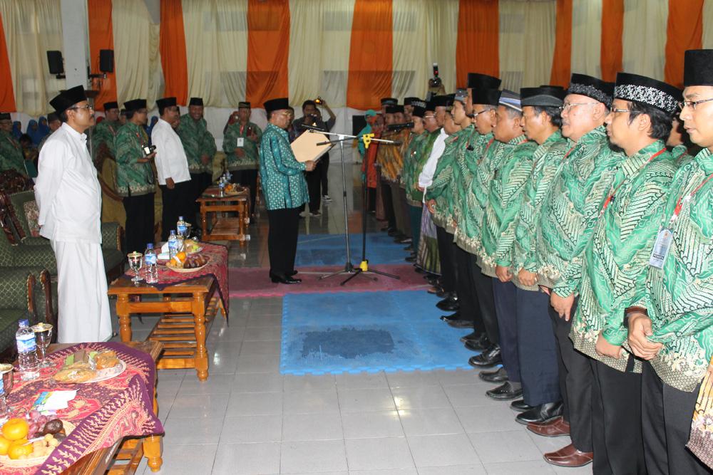 Pengukuhan pengurus DPD LDII Kabupaten Jombang masa bakti 2015-2020 yang disaksikan wakil gubernur Provinsi Jawa Timur Drs. H. Saifullah Yusuf.