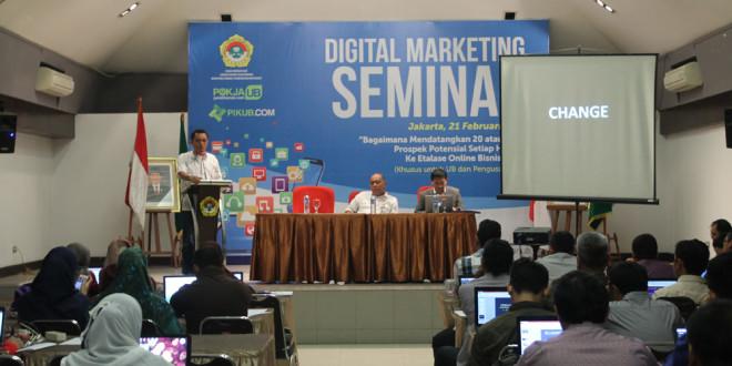 Seminar Digital Marketing yang diselenggarakan DPP LDII di Jakarta, Minggu (21/2/2016).