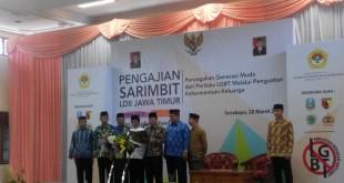 Pembacaan Deklarasi Anti LGBT oleh Ketua DPW LDII Provinsi Jatim Drs. Ec. H. Amien Adhy