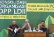 konsolidasi DPP LDII di Provinsi Jawa Timur bertempat di Aula Ponpes Sabilurrosyidin Surabaya, Minggu (27/3).