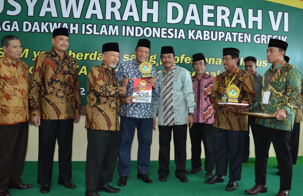 Bupati Sambari Halim Radianto membuka Musda VI LDII Kabupaten Gresik.
