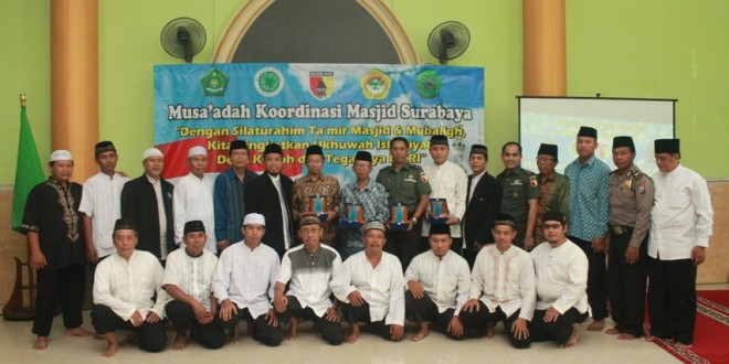Musa'adah dan Silaturahim Takmir Masjid Se-Surabaya di Masjid Baitil Jannah, Minggu (24/4).
