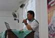Kepala Seksi Rehabilitasi Kantor BNN Kota Balikpapan dr. Agus Iriansyah, pada penyuluhan bahaya pengguna narkoba di Masjid Nurul Iman Karang Jawa, Balikpapan, Minggu (27/3/2016).