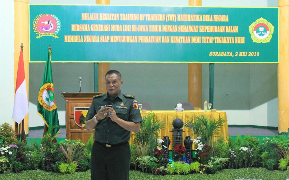 Pabandya Bakti TNI Staf Teritorial Daerah Militer (Sterdam) V/Brawijaya, Letkol Inf Drs. Didi Suryadi, MAP