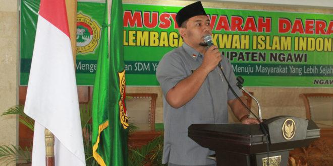 Wakil Bupati Ngawi Ony Anwar Harsono membuka Musda VIII LDII Kabupaten Ngawi di Pendopo Wedya Graha Kabupaten Ngawi, Selasa (31/5).