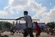Drama Kolosal Pertempuran Arek-Arek Suroboyo  di Upacara HUT Ke-71 TNI