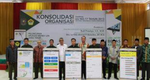 Sekretaris Ditjen Politik dan Pemerintahan Umum Kemendagri RI, Budi Prasetyo, meresmikan monitoring dan evaluasi elektronik (e-monev) DPW LDII Jawa Timur pada Konsolidasi Organisasi DPW LDII Jawa Timur di Aula Ponpes Sabilurrosyidin, Surabaya, Minggu (22/1).