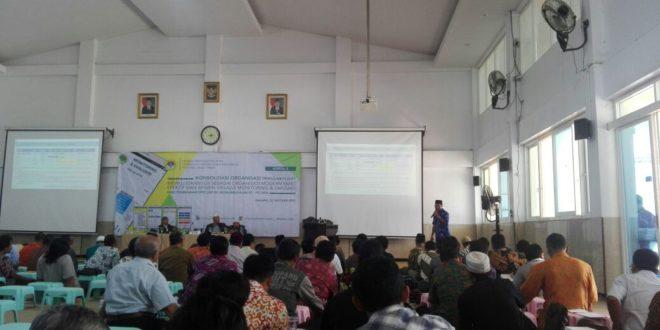 H. Maun, pengurus DPW LDII Jatim saat  memaparkan materi Konsolidasi Organisasi LDII se-Karesidenan Malang