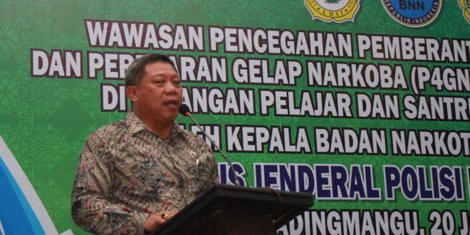 Deputi Pencegahan Badan Narkotika Nasional (BNN) Irjen Pol Ali Djohardi Wirogioto.