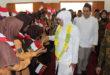 Gubernur Jawa Timur Terpilih Khofifah Indah Parawansa Penutupan MPLS Siswa SMA Budi Utomo, Perak, Jombang, Sabtu (21/7).