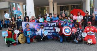 Superhero Marvel di puncak peringatan Hari Anti Narkotika Internasional (HANI) tahun 2018 yang diselenggarakan di Graha Pancasila, Balai Kota Among Tani, Kota Batu. Senin (16/7).
