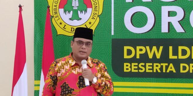 Ketua DPW LDII Jatim Saat memberikan Arahan