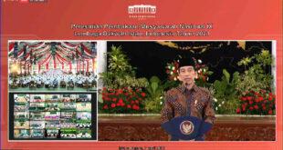 Presiden Jokowi membuka Munas IX LDII 2021 Secara Virtual di Istana Negara, Rabu (7/4).