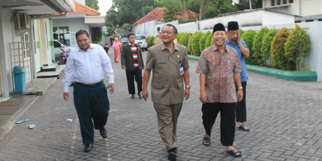 Kepala Bakesbangpol Jawa Timur Jonathan Judianto kunjungi Kantor DPW LDII Jawa Timur, Selasa (12/4).