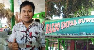 Fauzi Wafdolloh entrepreneur muda Bakso Empal Suwir Surabaya.