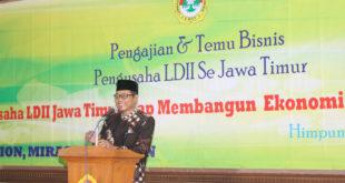 Sekretaris Daerah Kabupaten Gresik Drs. Djoko Sulistio Hadi, MM membuka pengajian dan temu bisnis LDII se-Jawa Timur, Minggu (25/9).