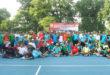 Foto bersama peserta Tenis LDII Jawa-Bali usai pertandingan, Sabtu (19/11).