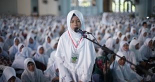 Safira Ursila Marsya, salah satu peserta halaqoh kubro tahfidzul Quran LDII Jawa Timur.