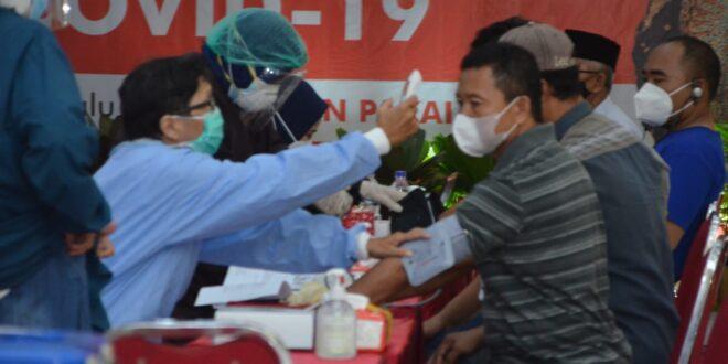Proses Screening Peserta Vaksinasi DPW LDII JATIM
