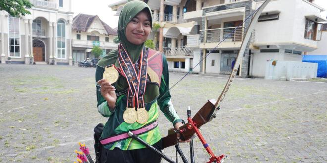 Bunga Arbela, Remaja Masjid Peraih 3 Medali Emas di PON XX Papua